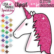 Rainbow Glitter Unicorn Clipart