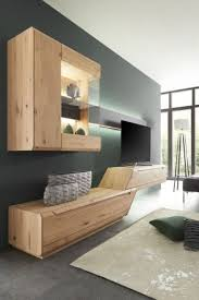 wohnzimmer wohnwand aus massivholz cavani decker wohnen