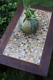 coffee table tile mosaic reclaimed wood rustic contemporary
