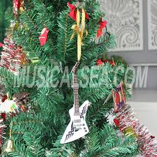 Christmas Tree Ornament Miniature Guitar