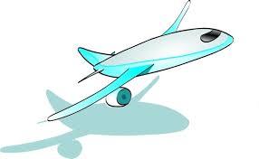 Plane Taking f clip art