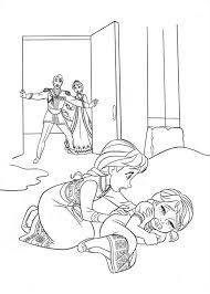 Coloring Page Frozen Animation Movies 105