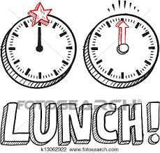 Clipart Of Lunch Time Sketch K13062922