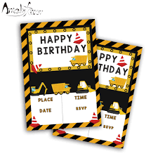20PCS Construction Trucks Theme Invitations Card Birthday Party ... Cstruction Trucks Party Supplies 36 Tattoos Loot Bag Birthday Under Cstruction Party Lynlees Awesome Monster Truck Birthday Party Ideas Youtube Ezras Little Blue Truck 3rd Birthday A Cstructionthemed Half A Hundred Acre Wood Free Printable Vehicles Invitation Templates How To Ay Mama Tonka Supplies Decorations New Mamas Corner Cstructionwork Zone Theme Amazoncom 1st Balloons Decoration My Toddlers