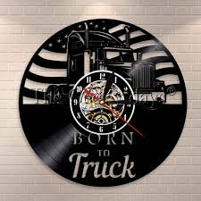 100 Truck Driver Quotes 1Piece Born To Clock Er Wall Clock Made Of Vinyl