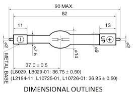 Deuterium Lamp Power Supply by Hamamatsu L2194 01 Super Quiet Xenon Lamp Hi Tech Lamps Inc