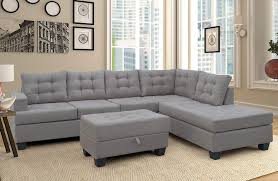 100 Designs For Sofas For The Living Room Merax Sectional Sofa With Chaise And Ottoman 3Piece Sofa For FurnitureGray