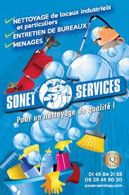 societe de menage bureau flyer societe de nettoyage sonet services logo d rik graphiste
