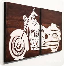 Harley Davidson Wall Art Best With Additional Home Decor Ideas
