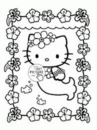Coloring PagesCaptivating Mermaid Page Hello Kitty Pages Is For Kids Girls Gallery Ideas