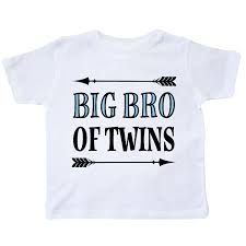 Big Bro Of Twins Brother Gift Toddler TShirt White 1199