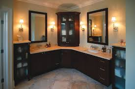 Tall Bathroom Corner Cabinets With Mirror by Bathroom Ideas Corner Bathroom Cabinet With Sink Under Framed