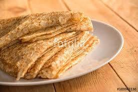 Top View Of Crepes French Pancakes Word Chandeleur Meaning Candlemas Written On A Heart Rustic Wood Background Stock Photo And Royalty Free Images