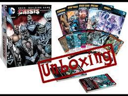 unboxing dc comics deck building game crisis expansion pack 2