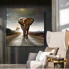 tier poster und drucke leinwand öl malerei dekoration elefanten wand kunst bilder für wohnzimmer cuadros home decor kein rahmen