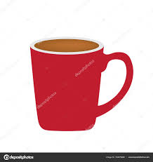 Red Coffee Cup Vector Illustration Stock