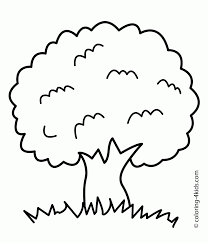 Coloring Page Fancy Tree Coloring Sheet Pages Page Color Free On