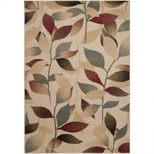 Leaves Pattern Area Rugs Lowes For Floor Decoration Ideas