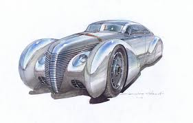 deco car design icon helios is gorgeous tesla powered electric streamliner concept