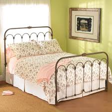 Wrought Iron King Headboard And Footboard by Ornate Scrolled Wrought Iron King Size Headboard And White