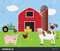 Farm Red Barn Tractor Pig Cow Stock Vector 100089866 - Shutterstock Red Barn Clip Art At Clipart Library Vector Clip Art Online Farm Hawaii Dermatology Clipart Best Chinacps Top 75 Free Image 227501 Illustration By Visekart Avenue Of A Wooden With Hay Bnp Design Studio 1696 Fall Festival Apple Digital Tractor Library Simple Doors Cartoon For You Royalty Cliparts Vectors