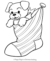 Christmas Dog Coloring Pages To Print