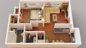 100 One Bedroom Design 3d Floor Plan Bedroom Apartment Finished Projects