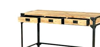 bureau metal bois bureau style industriel en metal et bois bureau