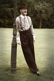 1920s Mens Clothing Oxford Bags Vintage Style College Pants High Waisted Trousers Lindy Hop