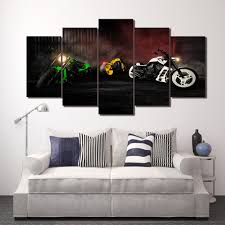 Image Is Loading Harley Davidson Sport Motor 5 Piece Canvas Art