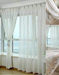 Gold And White Sheer Curtains by And Gold Lines Pattern Beige Linen Sheer Curtains Panels