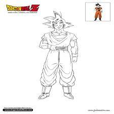 Coloriage De Goku Nitawebcom