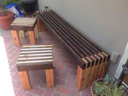 Wood Lawn Bench Plans by Appealing Modern Outdoor Wood Furniture Outdoor Wood Bench Plans