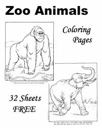Zoo Animal Coloring Sheets