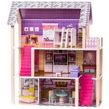 DIY Wooden Dollhouse Miniature Kit Doll House LEDMusicVoice