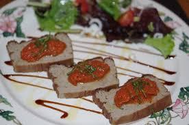 suce dans la cuisine terrine de caviar d aubergine et sa suce tomate fraîche au basilic