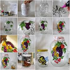 Try Painting On A Glass Jar As Shown In This Fun DIY Project Whether The Is Beautiful Flowers Or Animals With Little Bit Of Creativity And