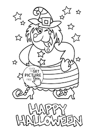 Halloween Witch Coloring Page For Kids Printable Free