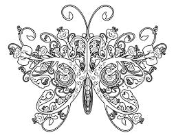 Hard Coloring Pages Printable Butterfly For Adults