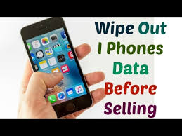 How to wipe out Apple IPhones Data before selling