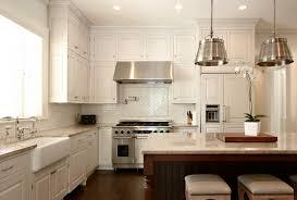 tile backsplash and white cabinets houzz