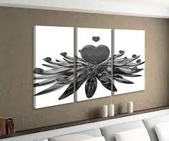 leinwandbild 3 tlg liebe herz rot blume see herzen schlafzimmer schwarz weiß bild bilder leinwand leinwandbilder holz wandbild mehrteilig 9w613