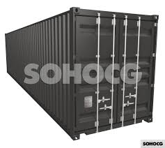 100 Shipping Container 40ft High Cube 3D Model