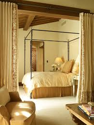 curtain room dividers bedroom mediterranean with armchair bedside
