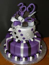 purple silver and black Birthday Cakes for Girls and Women