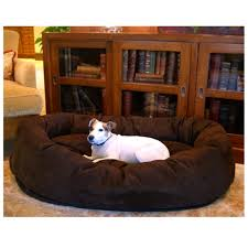 Burrowing Dog Bed by Majestic Pet Bagel Pet Bed Micro Suede Extra Large 52