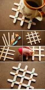 DIY Coasters With Sticks For Ice Cream Creative Ideas