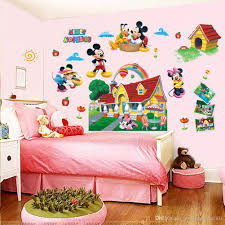 Colorful Mickey Mouse Clubhouse Wall Sticker 3D Mural Decal Kids Baby Room Decor