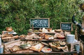 Rustic Outdoor Wedding Dessert Bar Ideas