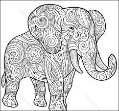 Coloring Pages For Adults Elephants 1